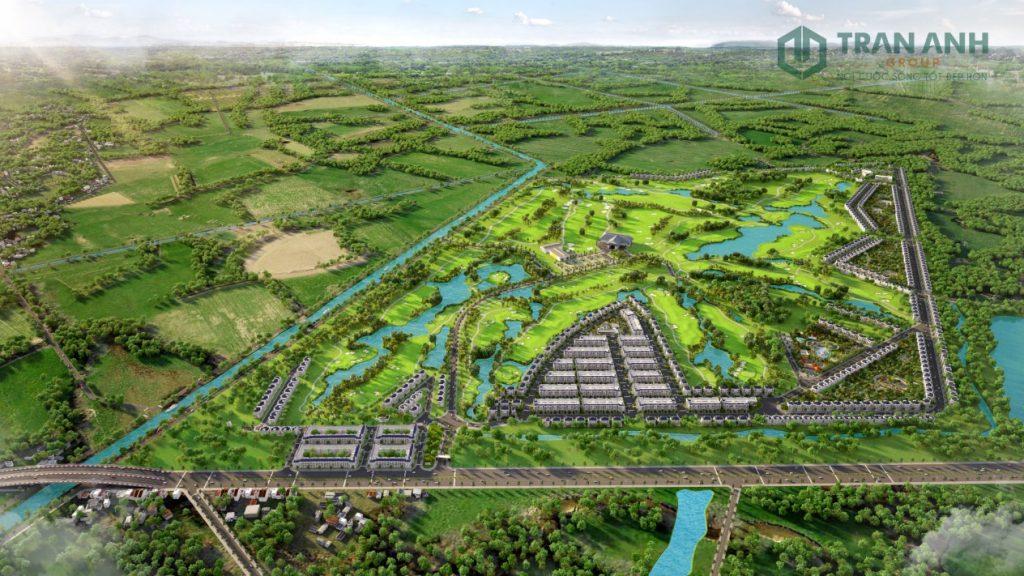 West Lakes Golf & Villas nằm trong quần thể sân golf đầu tiên tại Long An