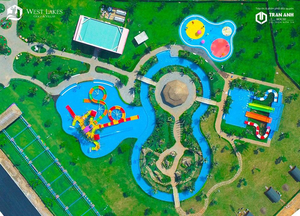 Tiện ích tổ hợp công viên nước độc đáo lần đầu tiên được xây dựng trong khu đô thị sinh thái golf West Lakes Golf & Villas